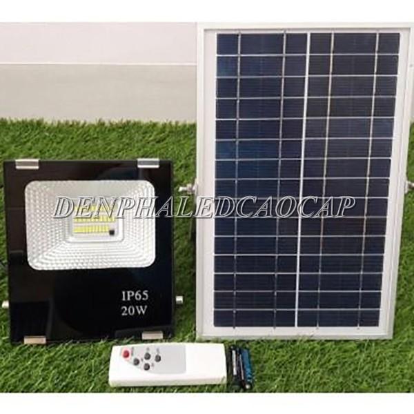 Đèn pha LED năng lượng mặt trời 20w