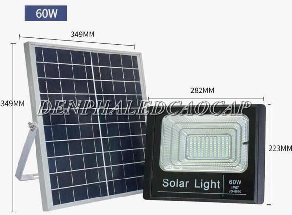 Đèn đường LED năng lượng mặt trời 60w