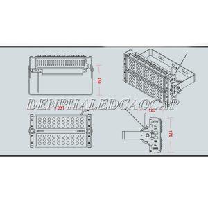 Bản vẽ cấu tạo đèn pha LED f12-100