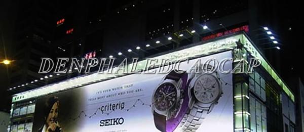 Đèn pha LED F6-50 ứng dụng chiếu biển quảng cáo