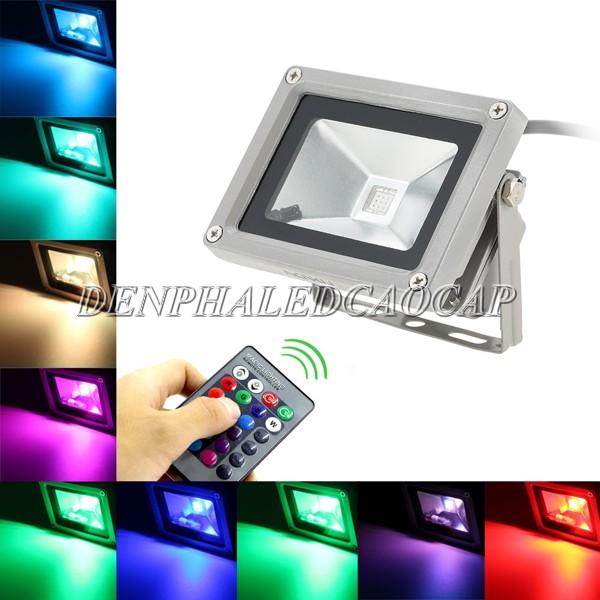 Đèn pha LED cao cấp 50w ánh sáng đổi màu