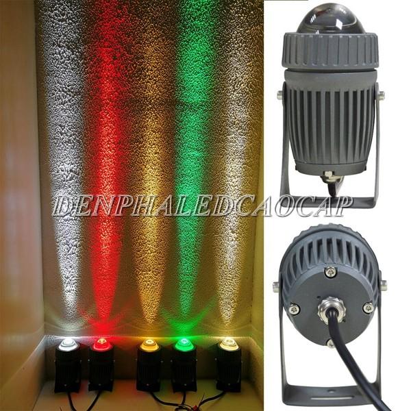 Đèn pha LED chiếu rọi chân tường 20w đổi màu