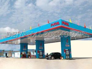 Đèn pha led chiếu sáng trạm xăng công ty Cổ phần dầu khí Hà Nội